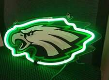 "Philadelphia Eagles Neon Sign Lamp Light 14""x10"" 3D Acrylic With Dimmer"
