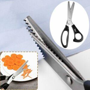 Tijeras de Acero Dentadas Costura Tijera de Sastre Para Costura Artesanía Nuevo