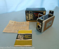 vintage Kodak Brownie movie camera box book f/2.7 lens very nice 8mm