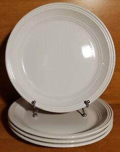 "Mainstays ARCTIC WHITE Dinner plate set(s) of 4, 10 1/2"", Stoneware, Very good"