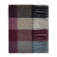 Kiltane of Scotland 100% Lambswool Tartan Scarf/Shawl -Grey/Purple Checkers