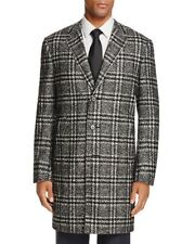 $1995.00 Canali Men's Black Exploded Plaid Coat Size  42 R