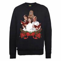 Star Wars Official Christmas Carols Sweater // Black // Small - XL Jumper Jedi