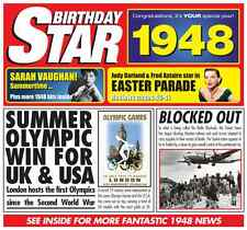 70th BIRTHDAY GIFT - 1948 Chart Hits Britpop CD and Year Greeting Card