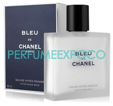 CHANEL de BLEU for Men 3.0oz-90ml AFTER SHAVE BALM -Sealed- ORIGINAL (BA13