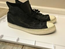 """Converse Chuck Taylor All Star LPII """"Black"""" Leather 139829c US Men's size 12"""