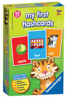 Ravensburger 23374 My First Flashcards Game Includes 34 Double Sided Cards New
