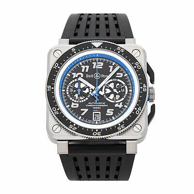 Bell & Ross BR 03-94 A521 LE Auto Steel Mens Strap Watch Date BR0394-A521/SRB