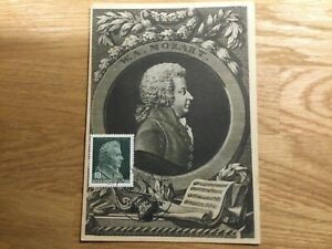 Maximum Card - DDR / Germany, W A Mozart 1956 Bicentennial of Mozart Birth