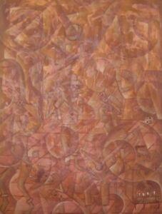 "ORIGINAL PAINTING MODERN ABSTRACT HAITIAN ART PIERRE PRINCIVIL ""MUSICIANS"" HAITI"