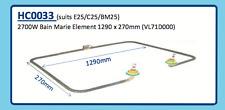 2700W Bain Marie Element 1290 x 270mm (Vl71D000) Hc0033 E25 C25 Bm25
