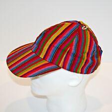 Guatemalan Style Baseball Cap Bright Woven Multi Color Hat