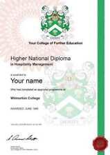 Replacement Novelty School College University Degree Diploma Hnd Award Custom