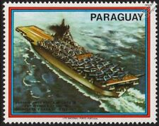 WWII USS ESSEX Aircraft Carrier Warship & TBF AVENGER and SBD DAUNTLESS Stamp