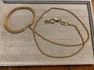 "Vintage Herm Sprenher HS50 Goldtone Petite/small Dog Leash 36"""