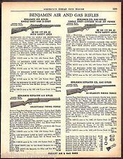 1961 BENJAMIN Single-shot & Repeating Air and CO2 Gas Rifle AD 4 models shown