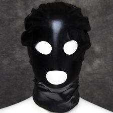 Head Face Faux Leather Fetish Black Sex Restraint Bondage Hood Mask Zip UK