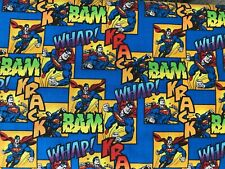 Mask Fabric Dc Comics Superman 100% Cotton Fabric *New Pattern*