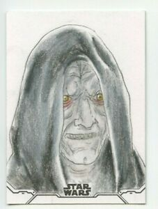 2020 Topps Star Wars Holocron Sketch Card (Emperor Palpatine) - Wayne Tully