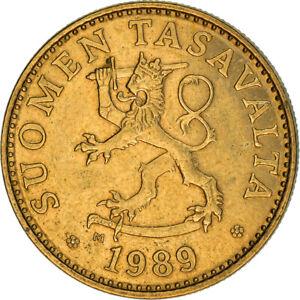 [#383724] Monnaie, Finlande, 50 Penniä, 1989, TTB, Aluminum-Bronze, KM:48