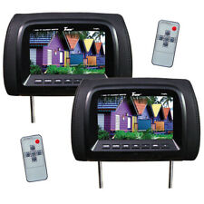 """TVIEW T726PL-BK Tview 7"""" TFT/LCD Car Headrest and MonitorPair Black"""