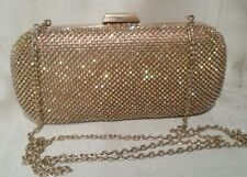 Women's HandBag LIU JO Accessories Crystalized Clutch Gold Chain Shoulder Strap