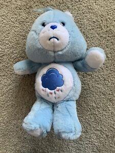 "2002 Vivid Imaginations Care Bears Care Bear 12"" Soft Plush Toy Grumpy Bear"