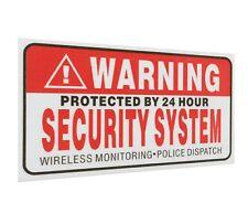 Lot de 5 stickers autocollant alarme surveillance sécurité