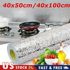 Kitchen Stickers Stove Cupboard Oil-proof Aluminum Foil Wallpaper Adhesive USA