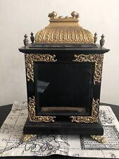 17th century ebony and brass bracket clock case