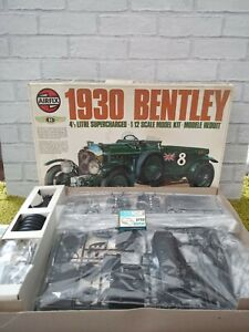 RARE Airfix 1930 Bentley  1/12 scale Model Kit with MOTOR  Contents sealed