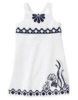 GYMBOREE CAPE COD CUTIE WHITE SEASHELL WOVEN DRESS 3 4 5 6 7 8 9 NWT