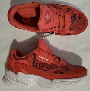 Adidas Originals Women's Sz 6 Falcon Craft Pink Snakeskin Print Shoes FV4481 New