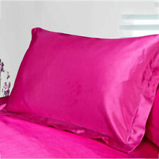 New Summer Silk Satin Soft Pillow Cases Queen Standard Comfort Solid Protector