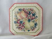 Avon . Sweet Country Harvest : Trivet With Mixed Fruit & Floral Design