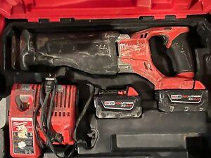 Milwaukee 2720-22 M18 FUEL SAWZALL Reciprocating Saw Kit W/(2) Batteries