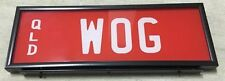 WOG BOY QLD INTERNATIONAL PERSONALISED NUMBER LICENSE PLATES SET NEVER USED