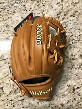 """New listing 2021 Wilson A2000 11.5"""" Infield Baseball Glove DP15 Pedroia Fit Model"""