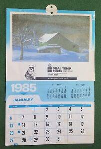 Vintage 1985 Advertising Calendar DUAL TEMP FUELS Allentown, PA Lehigh Valley