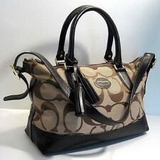 Coach 21150 Molly Brown Leather Trm Tote Shopper Shoulder Bag Purse Tassel Charm