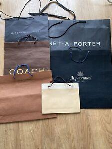 designer Gift Paper 6 bags Bundle Louie Vuitton Coach Marc Jabcobs Aquascutum