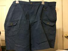 Haband Travelers Men's Cargo Style Shorts Size 44 Blue