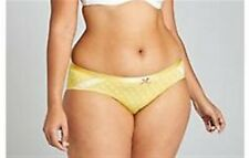 Lane Bryant Cacique Extra Soft Hipster Panties Underwear Polka Dot Yellow 22 24