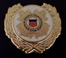 U. S. Coast Guard Gold Wreath logo Lapel Pin Uscg crossed anchors United States