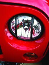 Rampage 86665 Euro Front Light Guards Black 1997-2006 Jeep JK & TJ Wrangler