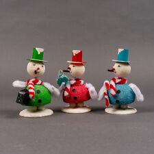 Shiny Brite Wiggle Head Snowman Trio Christmas Decoration Christopher Radko (1)