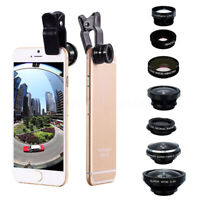 8 in1 Clip-on All Cell Phone Lens Wide Macro fisheye Camera For iPhone new