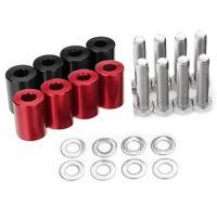 1'' 8mm Billet Hood Vent Spacer Riser Kit For Car Engine Turbo Engine Swap Set C