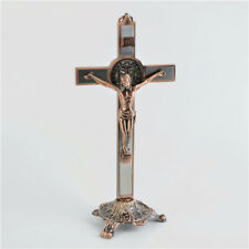 Religious Christian Bronze Crucifixes & Metal stand for All Occasions Gifts