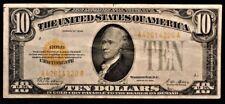1928 $10 GOLD CERTIFICATE PAPER MONEY NOTE VERY FINE #4320
